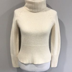 ANN TAYLOR THICK 100% CASHMERE TURTLENECK-SMALL